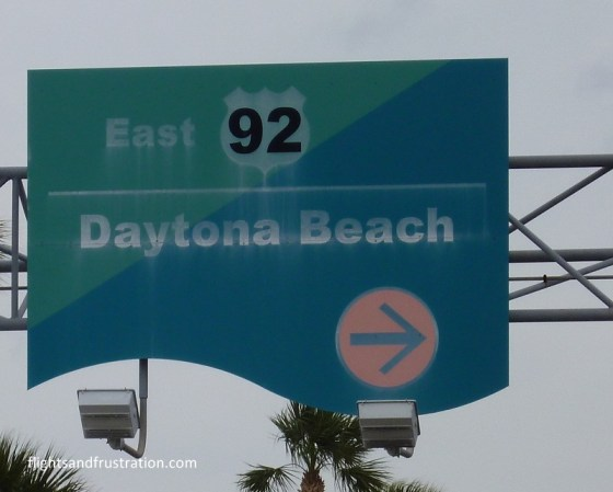 This way to Daytona Beach - the most famous beach in the world