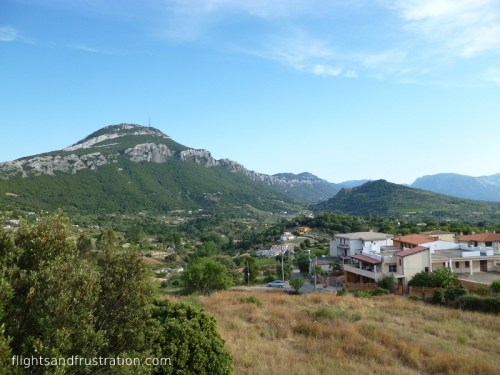 A view of the mountains from Dorgali