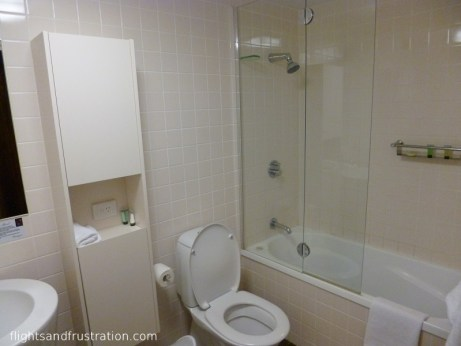 Bathroom at Evolution Apartments Tank Street Brisbane