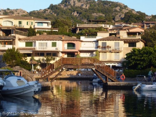 Wooden bridge at Porto Rotondo
