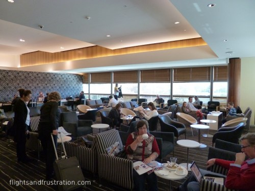 Seating in the Qantas Club Lounge Brisbane Airport