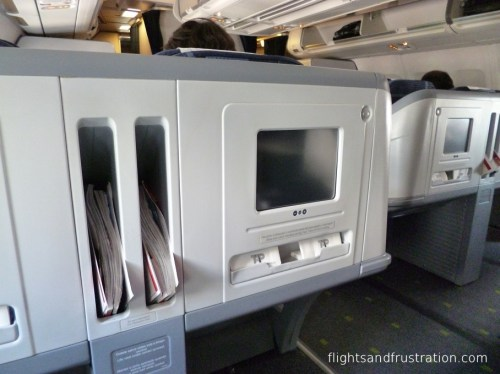 TV screens in Business Class were quite small