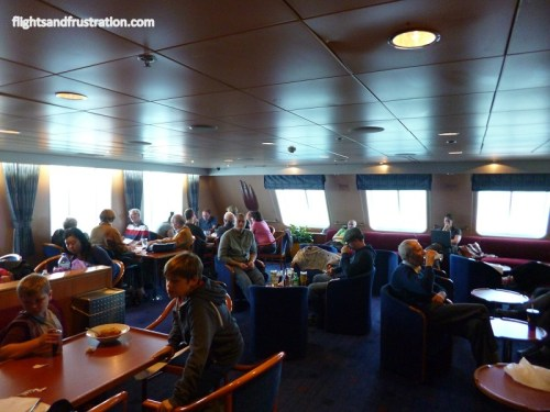 Main lounge on the direct ferry to Ireland