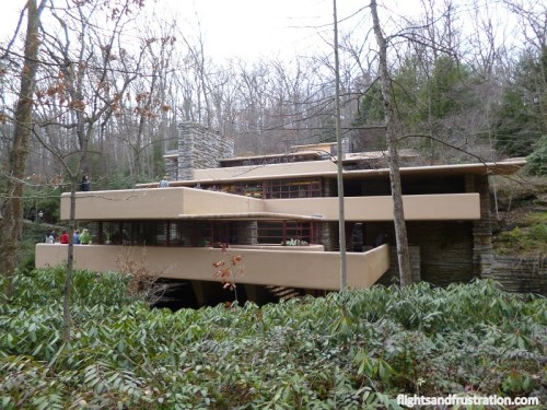 Fallingwater by Frank Lloyd Wright has a lot of cantilevers
