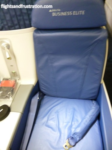 The new Delta Business Class leather seat