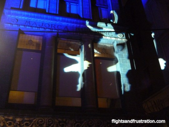 Floating Ballerina lights at the white night Melbourne festival