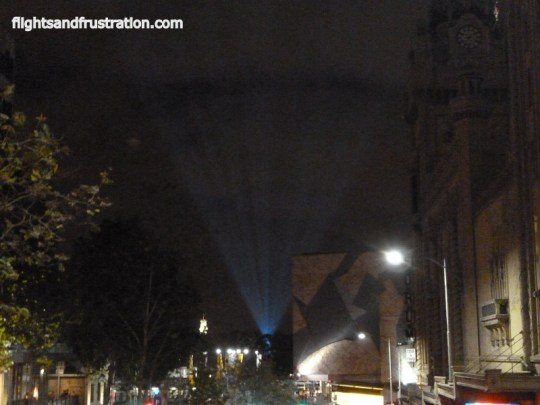 White beam into the sky for White Night Melbourne Festival