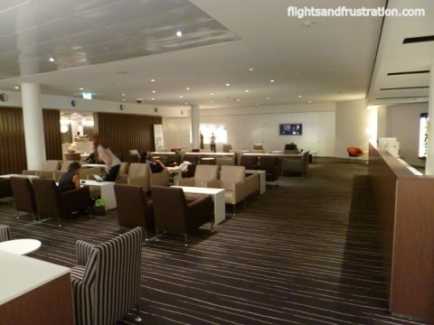 A long lounge for Qantas International Business Class travellers