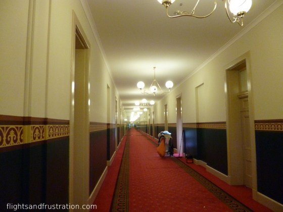 Long corridors of the Railway Administrative Building Melbourne