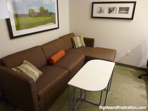Lounge area in my bedroom suite at Springhill Suites Latrobe