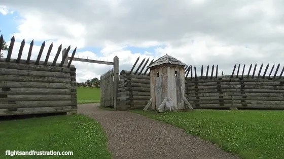 Fort Ligonier entrance to one of the museums in pa