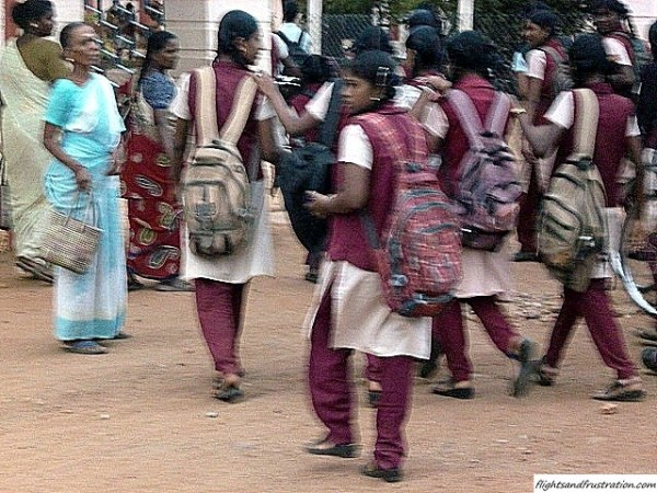 Indian schoolgirls