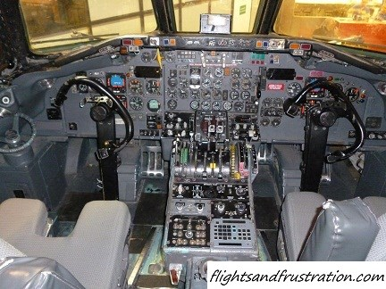 Inside an airline cockpit just like the flight that was shot down