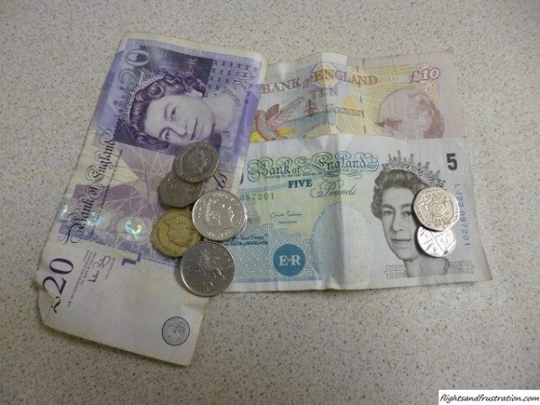 GBP The Great British Pound £ currency of England and Scotland