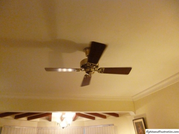 The overhead fan was just right