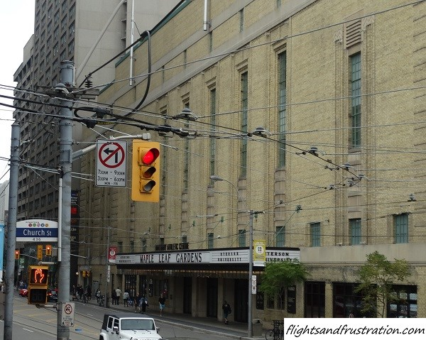 Maple Leaf Gardens, the former home of the Toronto Maple Leafs ice hockey team