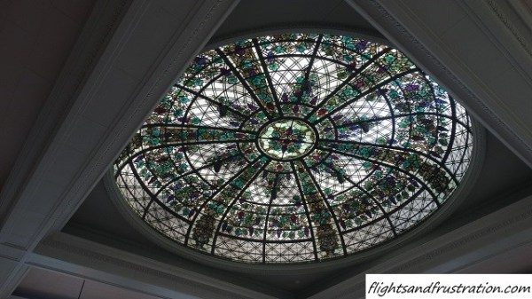 Stained glass conservatory ceiling