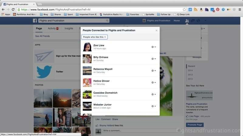 This shows the people who like my Facebook page from a personal account