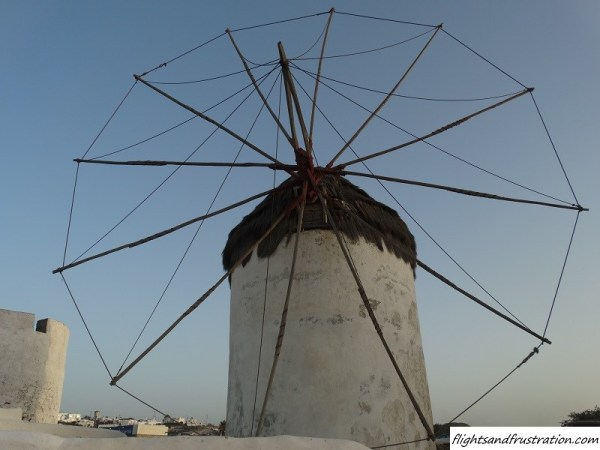 One of the white windmills in Mykonos