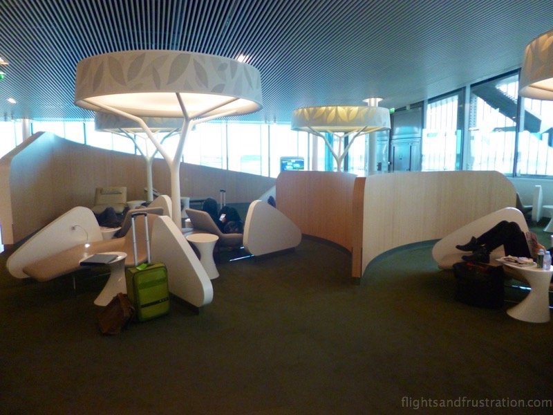 The Air France Lounge at Charles De Gaulle offers somewhere to unwind