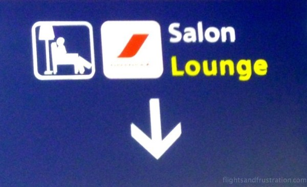 This way to the Air France lounge at Charles De Gaulle airport terminal 2 e gates m