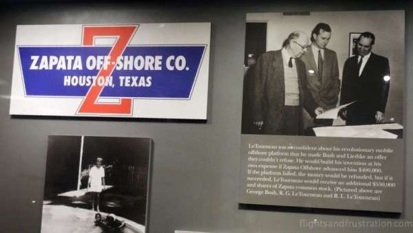 George H W Bush as a businessman exhibit at the george bush library college station