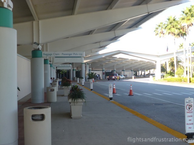 Kerbside bays outside Daytona Beach Airport