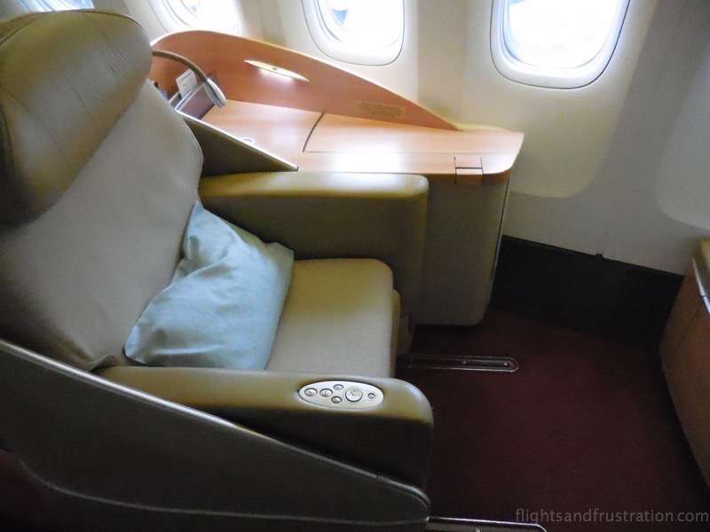 Seat 1A on Air France First Class on a Boeing 777-300ER