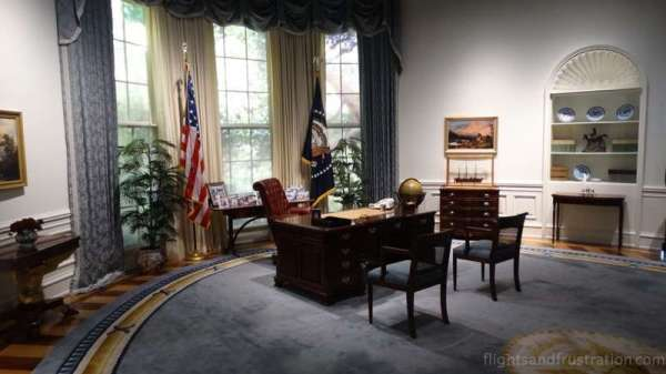 The Oval Office on display at the george bush library college station