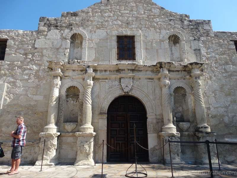 The front of The Alamo San Antonio Texas