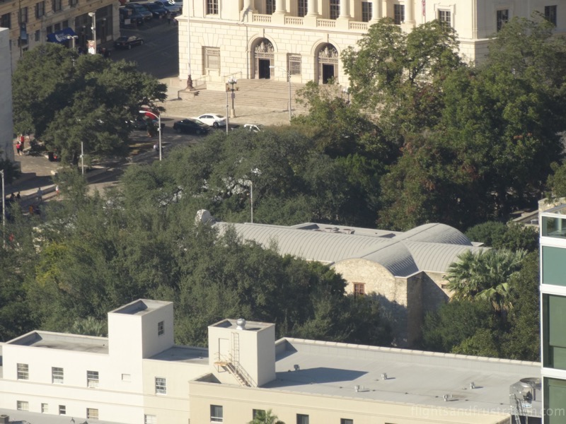 View of The Alamo from The Tower of the Americas