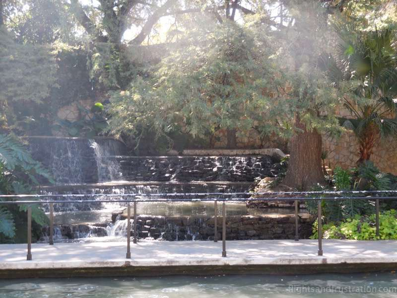 Water feature on the San Antonio riverwalk
