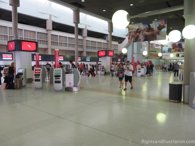Self service check-in units at Brisbane Airport Domestic Terminal