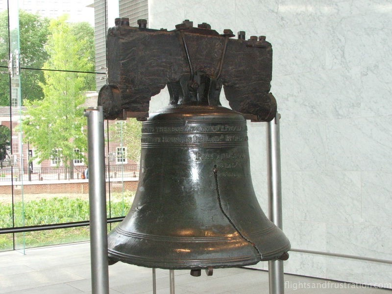 The Liberty Bell about Philadelphia