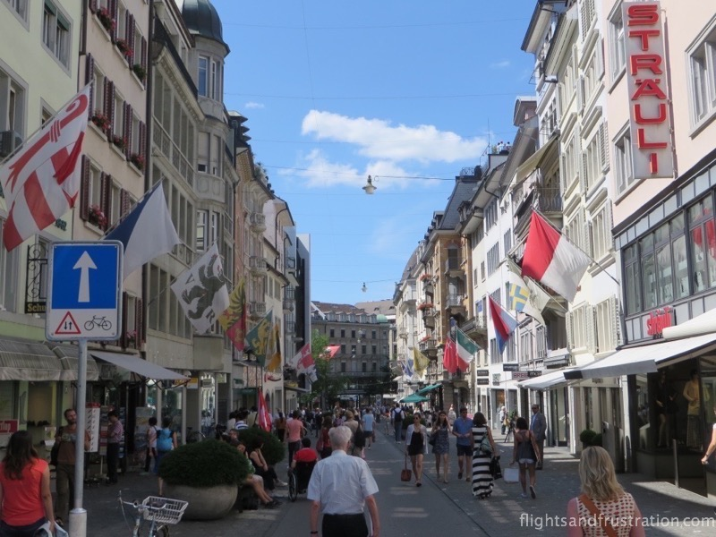 Central Zurich the home of Swiss bankers