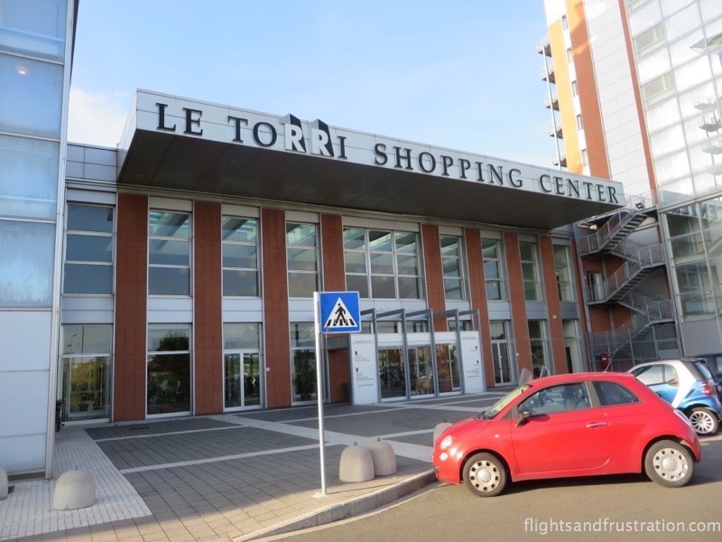 Le Torri Shopping Centre is adjoined to the Max Hotel Livorno
