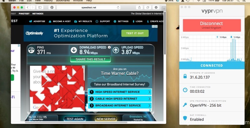 Second Vypr vpn speed test