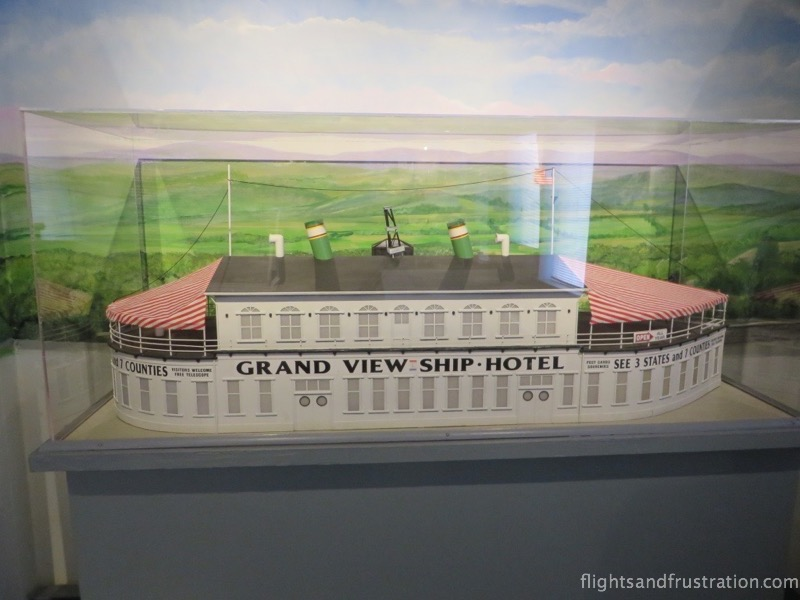A replica model of The Ship Hotel