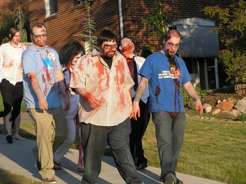 Zombie parade is part of the history of halloween