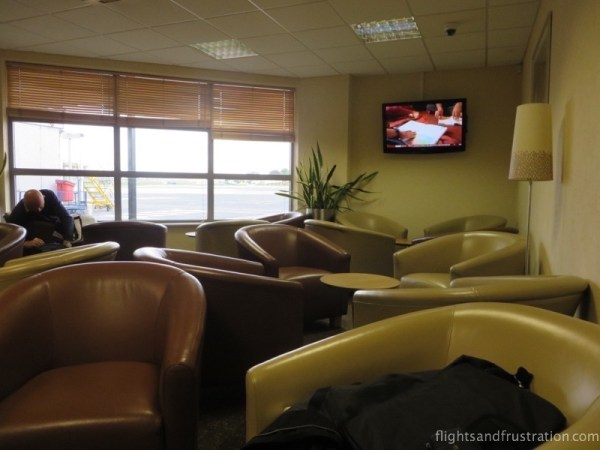 Round back seats at the Humberside Servisair Lounge