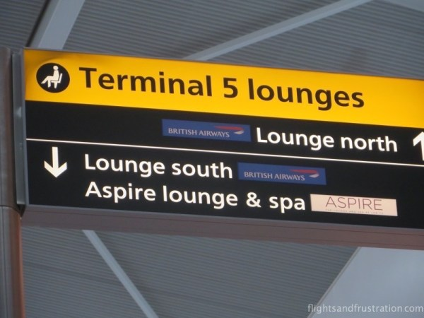British Airways lounges are located in Terminal 5 at Heathrow