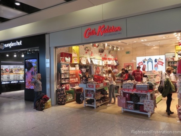 My bride's favourite shop can also be found at Heathrow Terminal 5