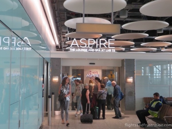 The Aspire Lounge at London Heathrow Terminal 5