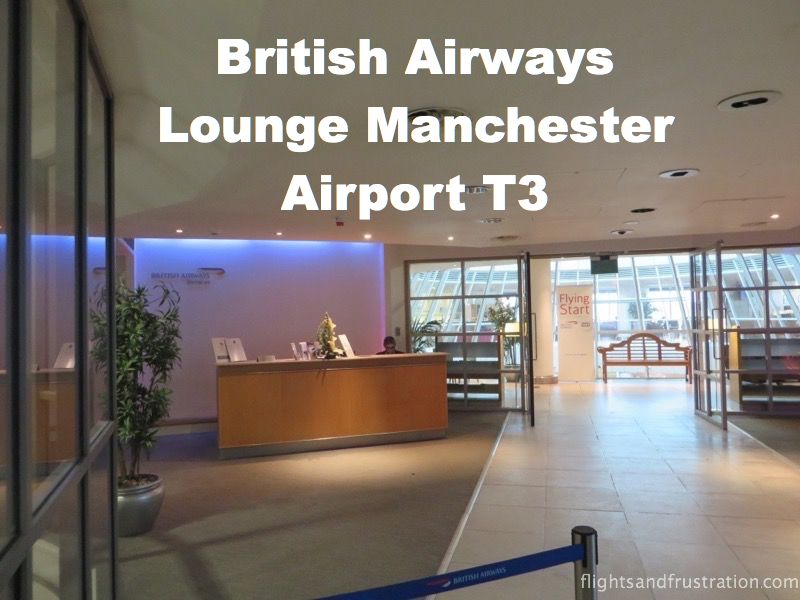British Airways Business Class Lounge at Manchester Airport