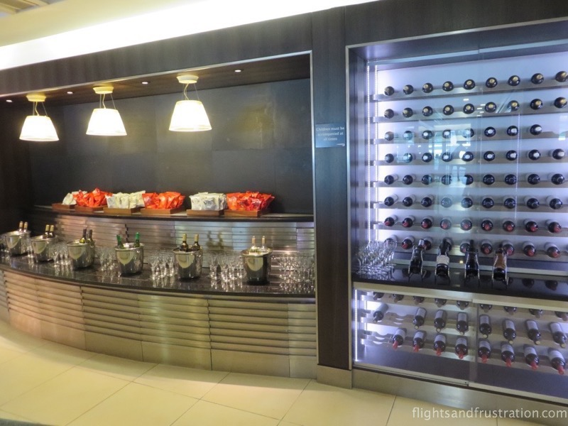 The British Airways Lounge at Heathrow Terminal 5 has a wide wine selection