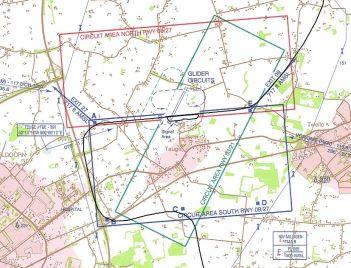 Landingskaart van Vliegveld Teuge