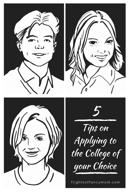 tips on applying to the college of your choice
