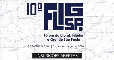 Abertas inscrições para a 10a. edição do FLIGSP