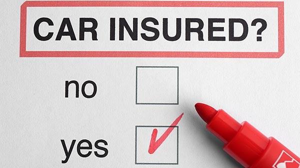Car insurance concept. Felt pen on question form