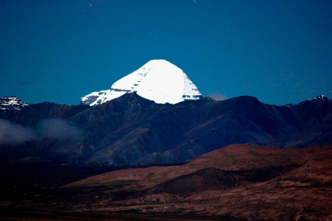 moonkissed Kailash on a full moon night
